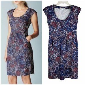 Boden Casual Weekend Jersey Dress Pockets Blue 2P